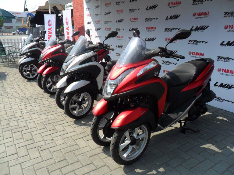 Multi-wheeled Yamaha Tricity motorcycle now available!