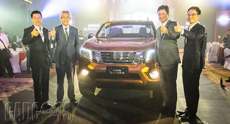 (L-R) Mr. KENJI NAITO, Senior Vice President, Nissan Motor Asia Pacific Co., Ltd (NMAP); Mr. TORU HASAGAWA, Corporate Vice President, Nissan Motor Co., Ltd. (NML); Mr. TOTI ZARA, President and Managing Director, NPI; Mr. SJ HUH, General Manager, Marketing, NPI.