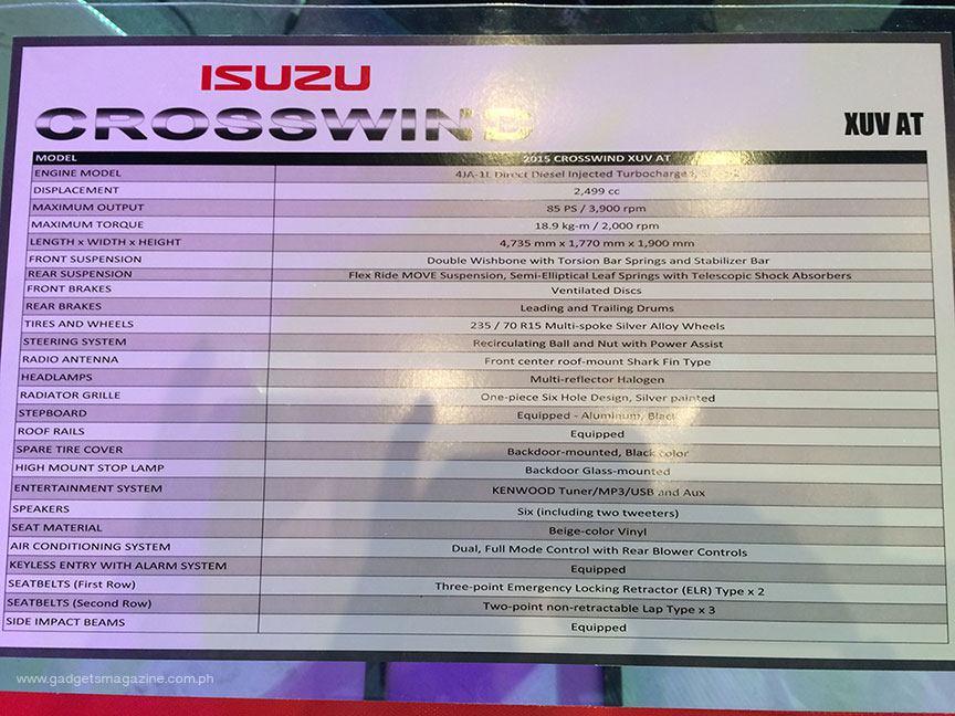 Isuzu 2015 Crosswind Launch_009