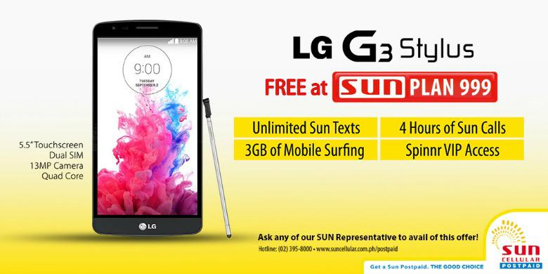 Get your very own lg g3 stylus smartphone at sun postpaid for Sun mobile plan