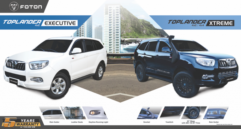 Foton PH launches new Toplander variants