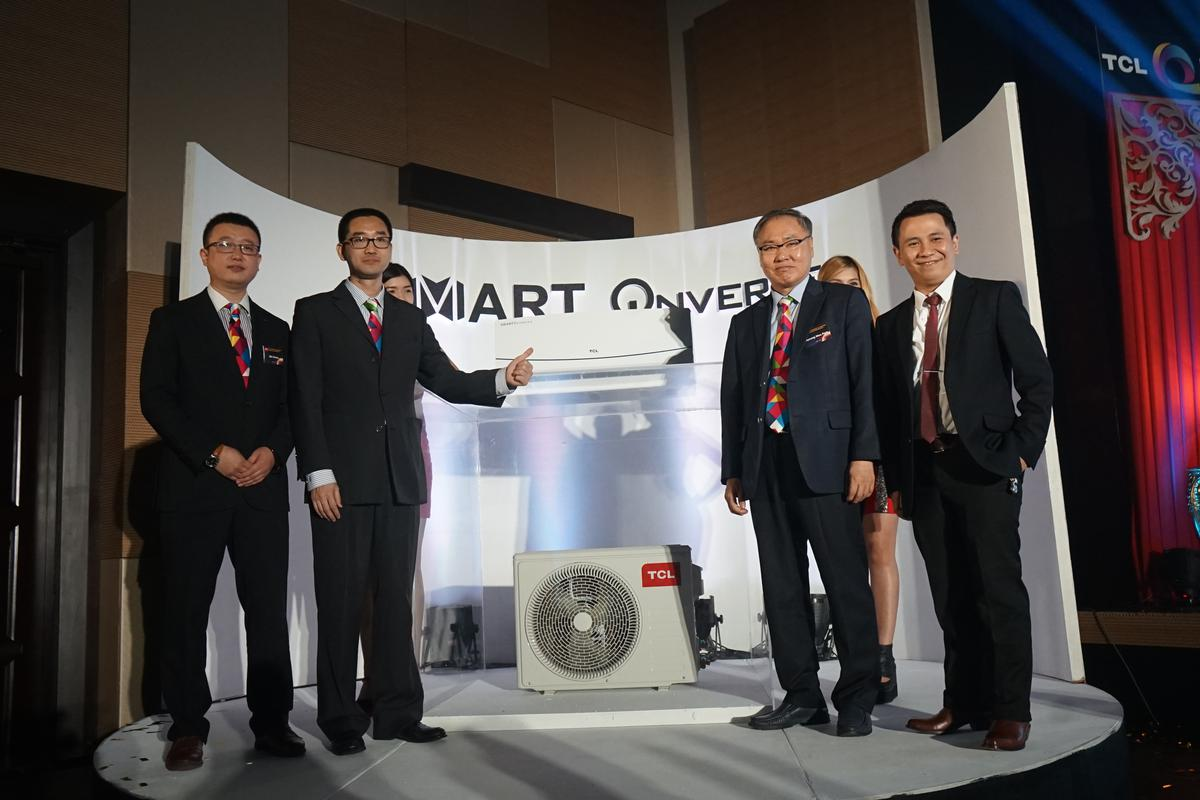 L-R Bill Cheng - TCL Aircon Division Director_ Eason Cai - TCL PH CEO_ Byeong Woo Park - Brand Marketing Consultant, Aircon Division_ Jay Guanzon - TCL PH Business Unit Manager Whitelines