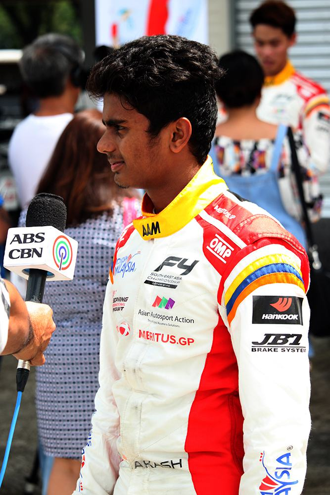 F4 driver Akash Gowda
