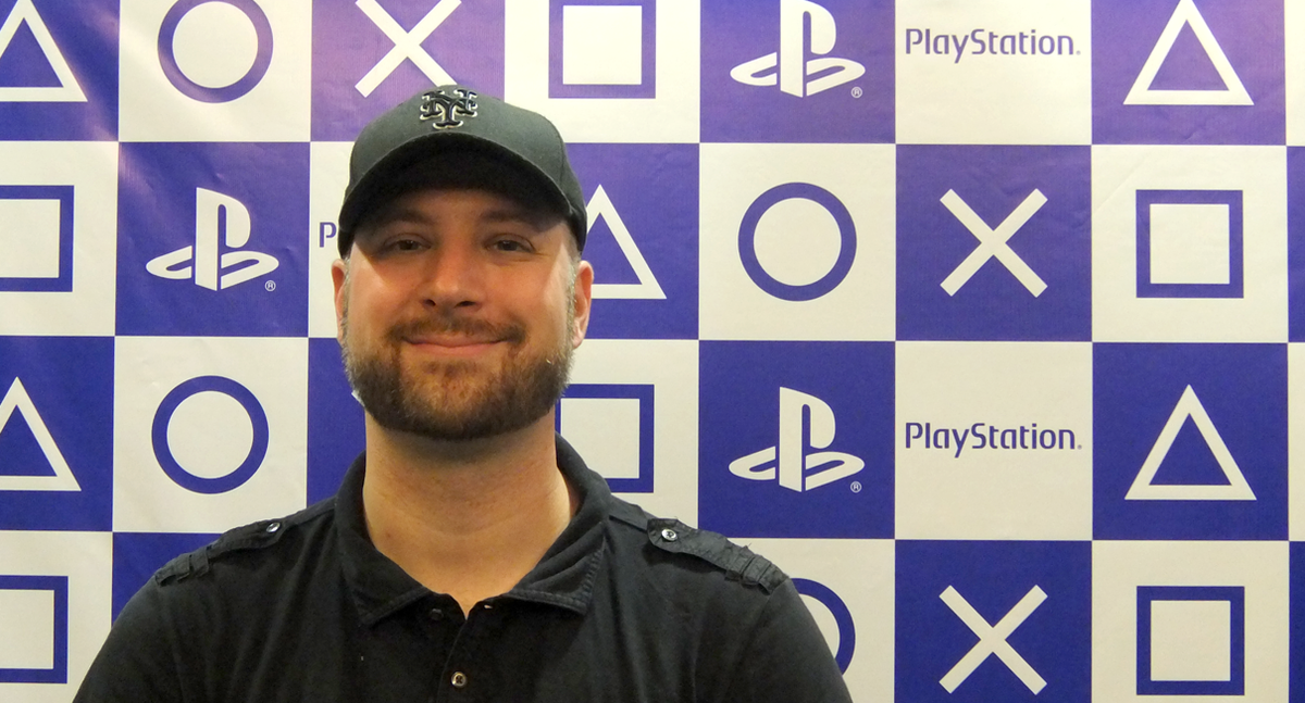 Infinity Ward Director of Communications Eric Monacelli at the PlayStation press conference
