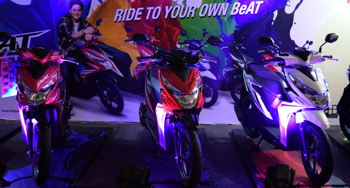 The all-new Honda BeAT is on display at HPI's booths in SM Mall of Asia.