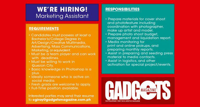 We're Hiring: Marketing Assistant