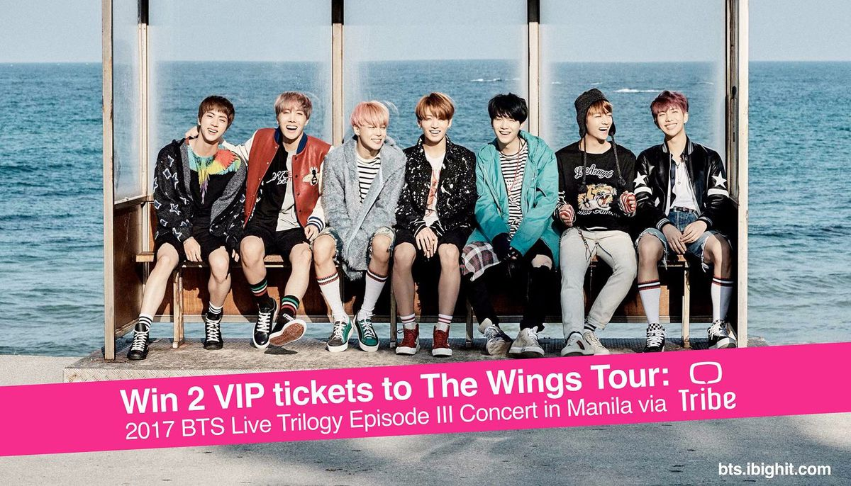 Win 2 vip tickets to bts wings tour in manila with tribe gadgets tribe the go to over the top ott video streaming service for asian content is giving away vip tickets to bangtan sonyeondans bts much awaited wings m4hsunfo