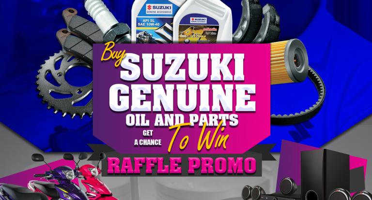 Win big with Suzuki's Genuine Oil and Parts Raffle Promo