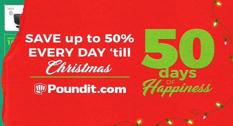 Poundit Counts Down Christmas with Awesome Deals