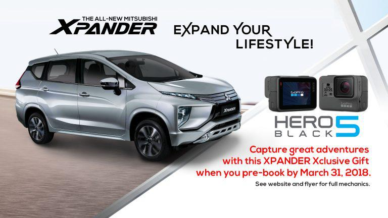 Reserve the all-New Mitsubishi XPANDER and get your own GoPro Hero5 Black