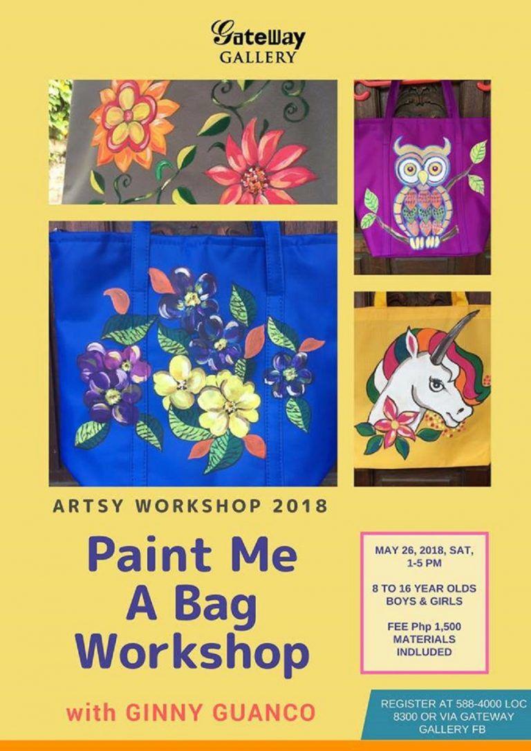 Paint-Me-A-Bag Workshop at Gateway Gallery
