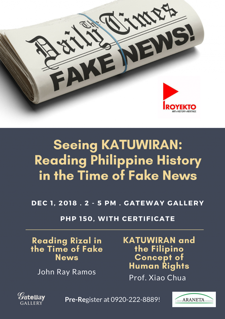 History in the time of Fake News