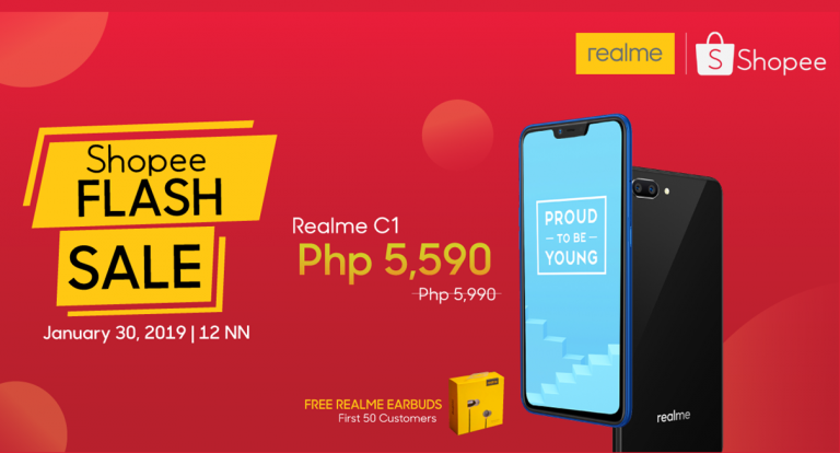 Realme Philippines Launches Official Store on Shopee, Holds First 2019 Flash Sale on January 30