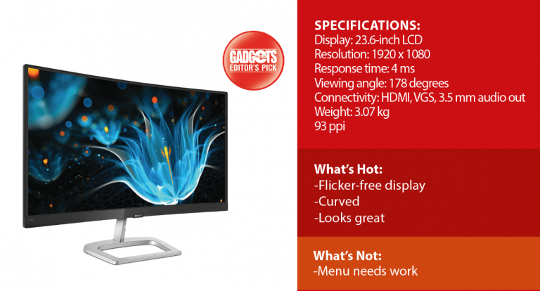 Reviewed: Philips E-Line 248E Curved Monitor