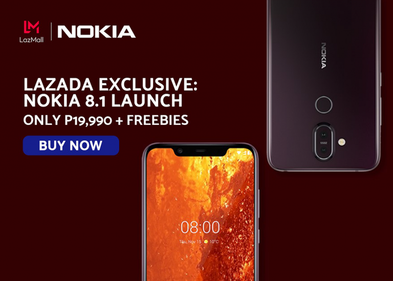 HMD Global launches Nokia 8.1 with Lazada exclusive deal