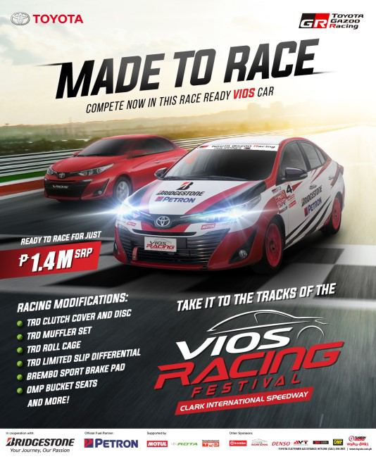 Toyota brings race-ready Vios to the public