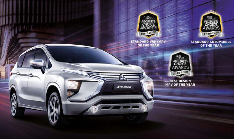 Mitsubishi Xpander wins Automobile of the Year in 2019-2020 Auto Focus People's Choice Awards