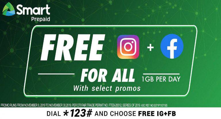 Smart and TNT subscribers may enjoy Instagram and Facebook for free