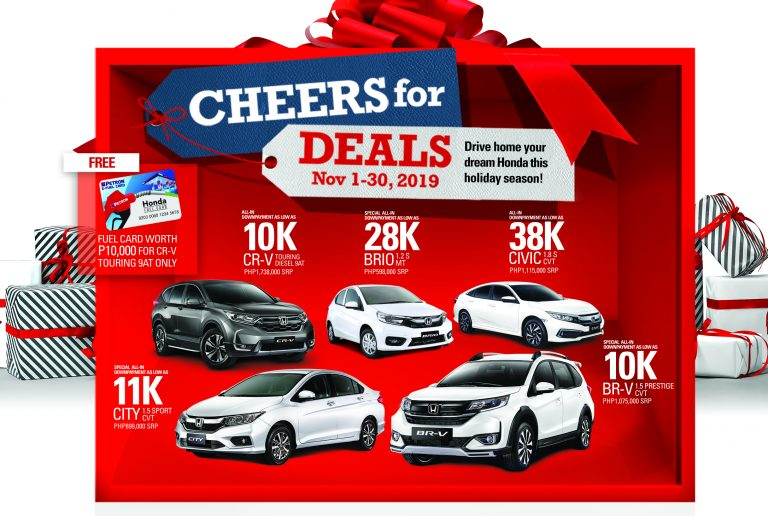 Honda offers early Christmas promo
