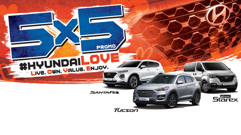 Find LOVE with Hyundai this season of hearts— Live, own, value & enjoy with the 5X5 Promo