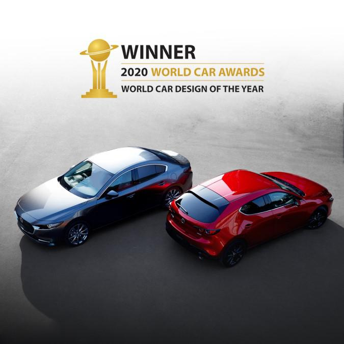 All-New Mazda3 wins 2020 World Car Design of the Year Award