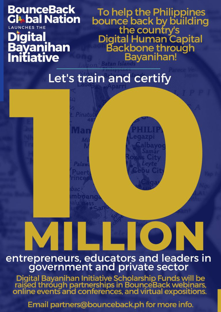 BounceBack movement to train 10-M scholars for digital transformation; certificate courses offered for entrepreneurs, educators, leaders welcome