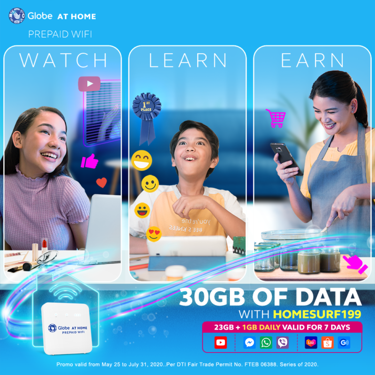 Level up your digital diskarte with bigger Globe at Home Prepaid WiFi HomeSURF199