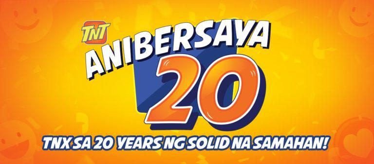 TNT celebrates 20th anniversary with 20% 'Balik Load' on Giga offers