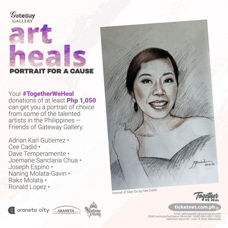 'Portrait for a Cause' returns in support of #TogetherWeHeal donation drive