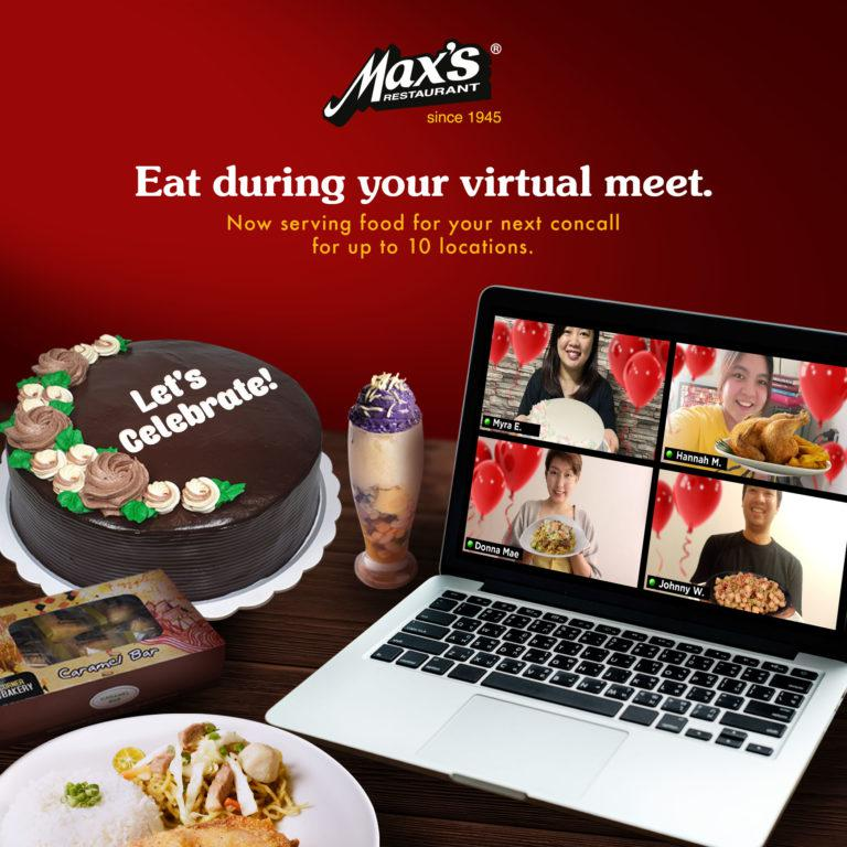 Missing the food in online meetings and celebrations? Make it happen with Max's E-Party