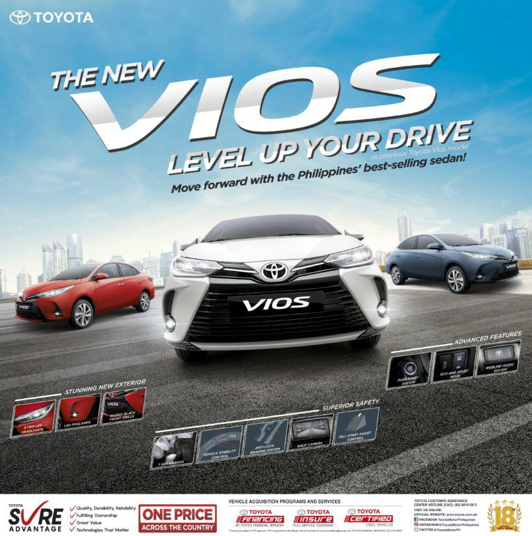 The new Toyota Vios has leveled-up looks and features at the same reasonable price points (with specs)