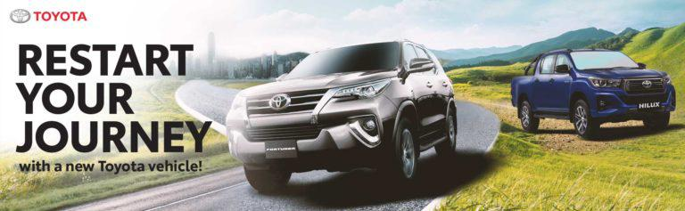 Toyota 'Restart Your Journey' promo offers more August deals