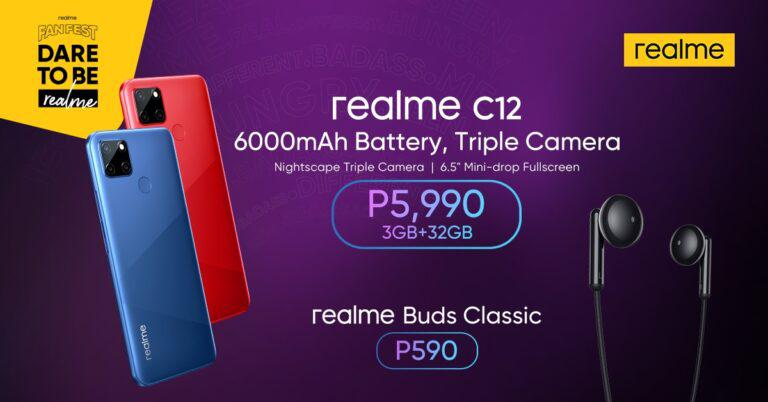 realme rounds out August Fan Fest with new C12 smartphone, Buds Classic