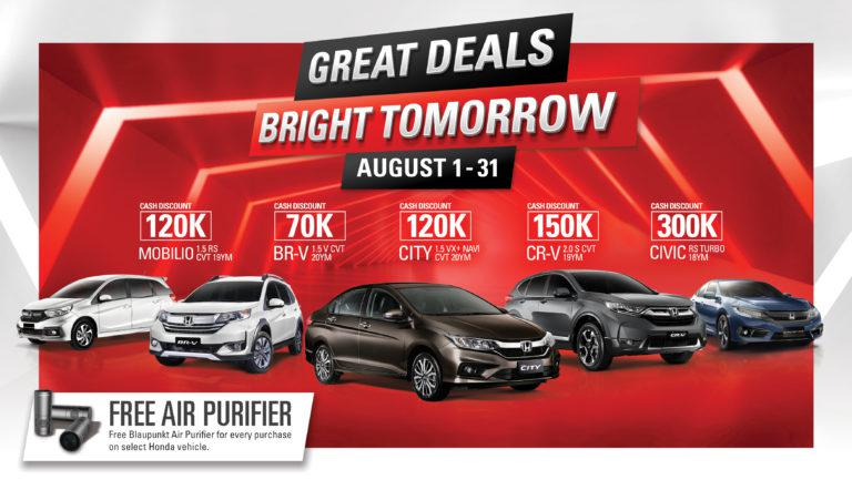 Honda continues huge cash discounts, other great deals this August