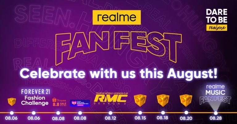 August is realme Fan Fest Month
