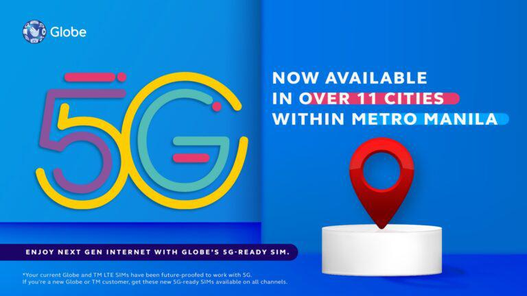 Globe fires up 5G sites in MM cities: Find out if your location is 5G-ready