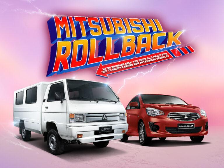 Mitsubishi Motors PH rolls back the price of the Mirage G4 to 2013 levels; the L300 to 2018