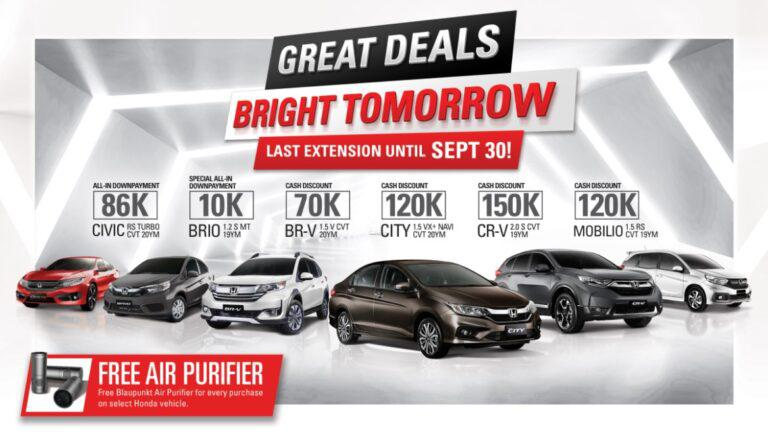 Honda announces final extension of huge cash discount, other great deals this September