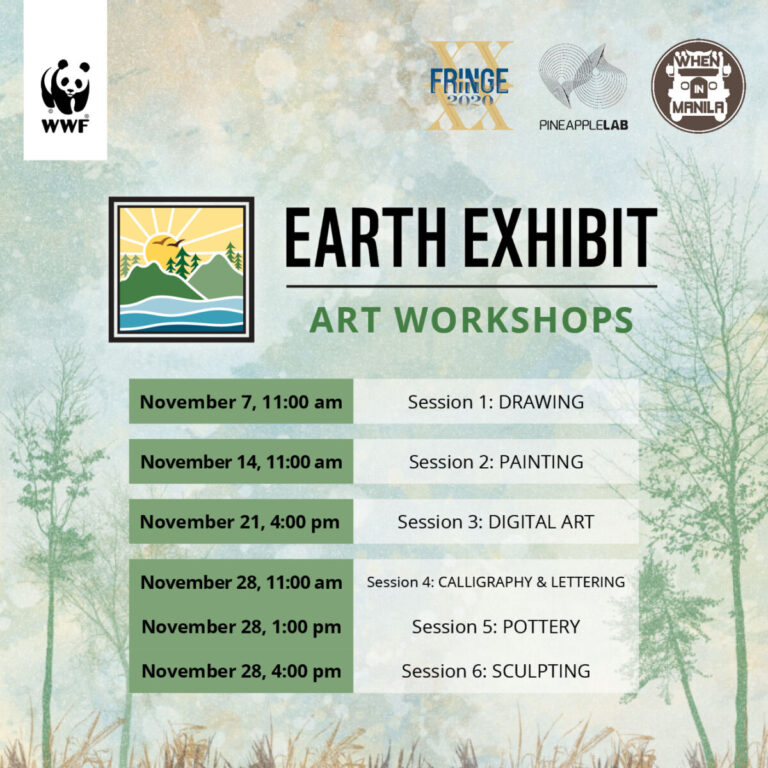 Local artists offer art workshop series to support WWF-PH Earth Exhibit initiative