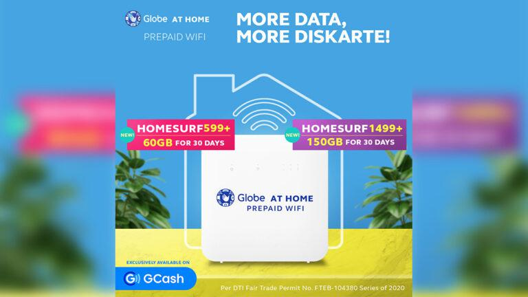 Exclusively on GCash: Bigger and better Globe At Home Prepaid WiFi promos