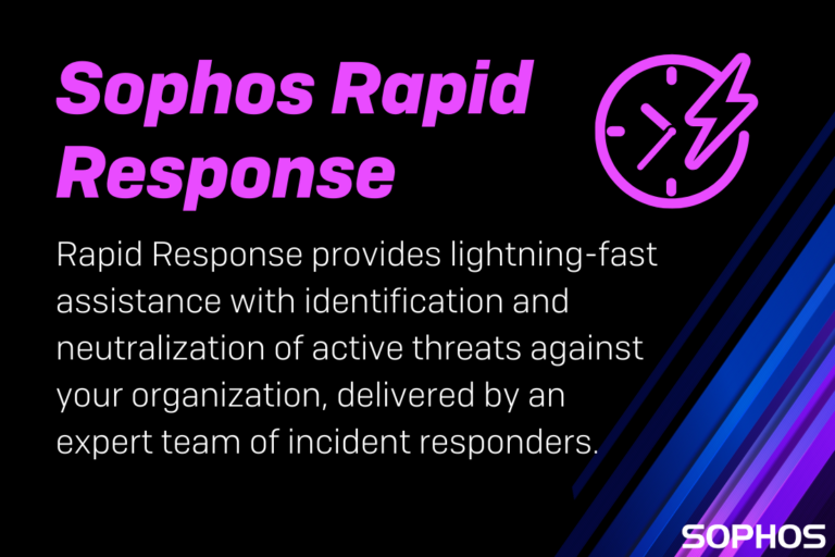 Sophos launches Rapid Response Service to identify and neutralize active cybersecurity attacks