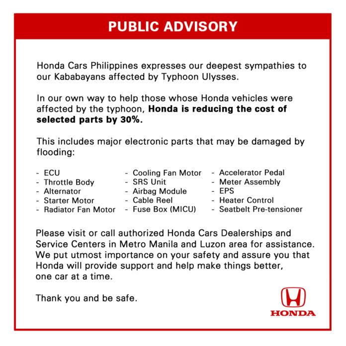 Honda offers assistance