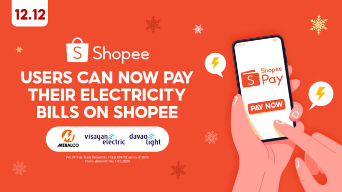 ShopeePay electricity bills