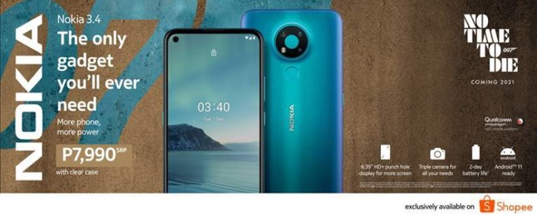 The new Nokia 3.4 debuts on Shopee