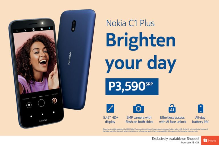 The Nokia C1 Plus, a more  affordable 4G