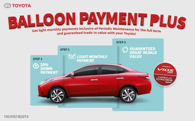Toyota Balloon Payment Plus takes you a step closer to your dream car