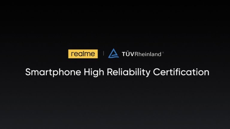realme is first smartphone with TÜV Rheinland certification