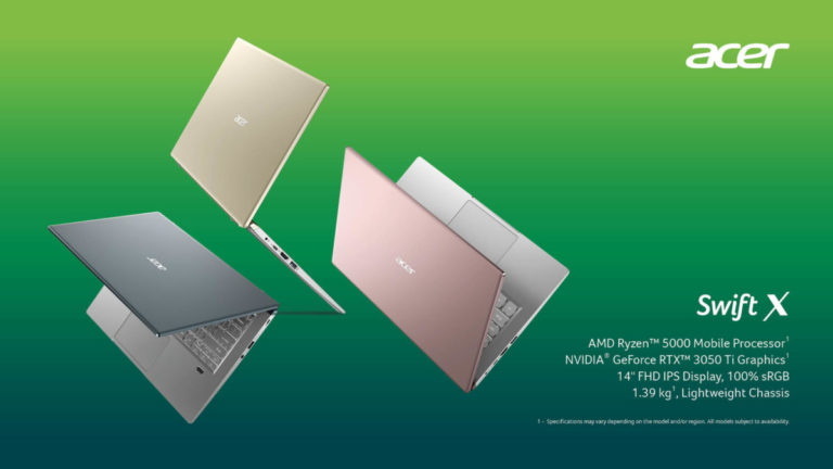 Acer Swift X ultra-portable PC