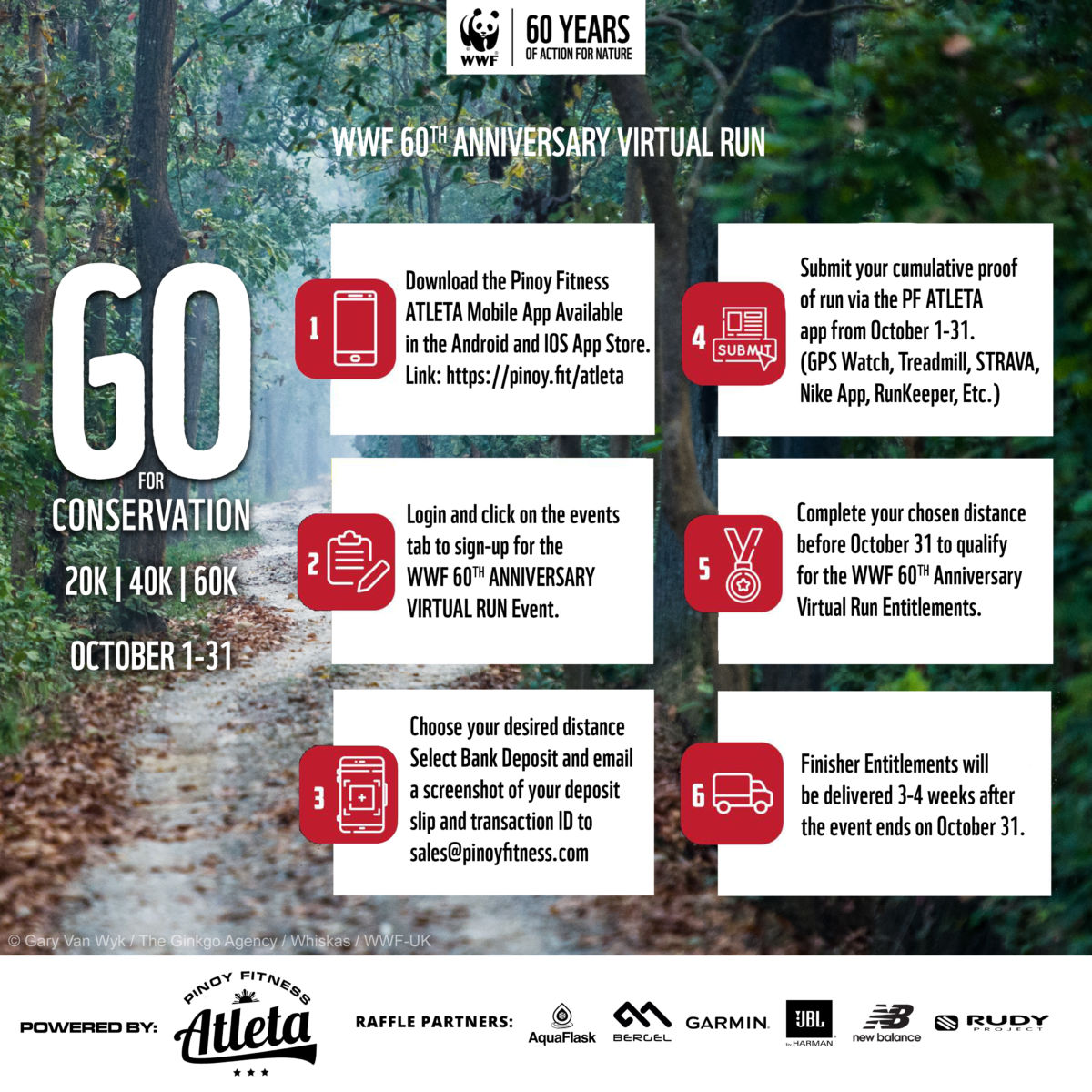 WWF-Philippines teams up with Pinoy Fitness Atleta for a virtual run to promote environmental conservation